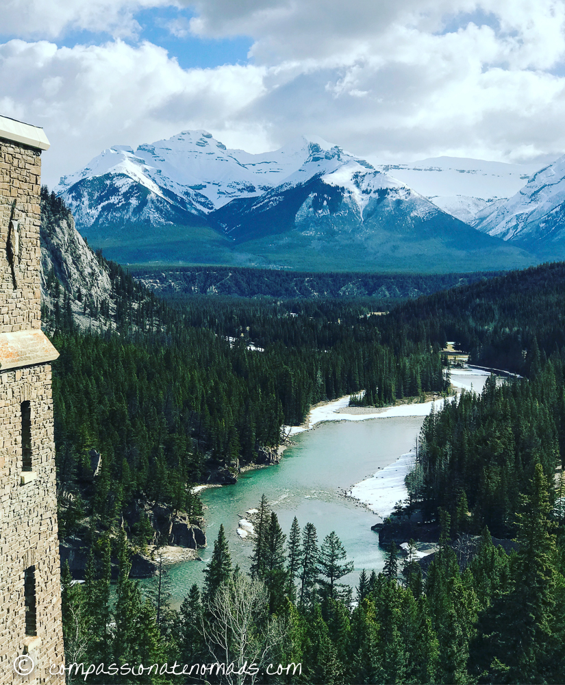The Fairmont Banff Springs Hotel in the Canadian Rocky Mountains